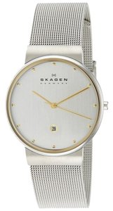 Skagen Denmark Skagen Men's 355LGSC Two-Tone Stainless Steel Mesh Watch