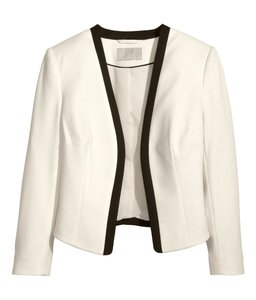 H&M Jacket White Black Ivory Blazer