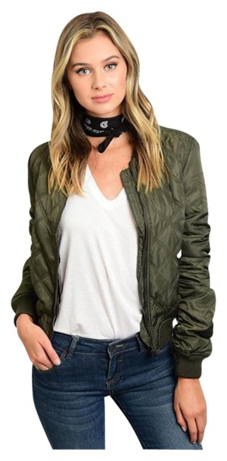 Preload https://item4.tradesy.com/images/olive-green-new-quilted-bomber-small-medium-large-xl-spring-jacket-size-12-l-19353658-0-1.jpg?width=400&height=650
