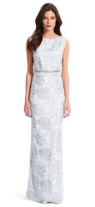 Adrianna Papell Floral Sequin Blouson Gown Wedding Dress