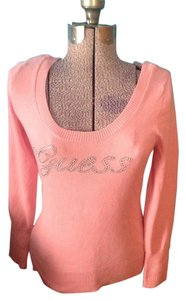 Guess Rhinestones Pink With Tags Sweater