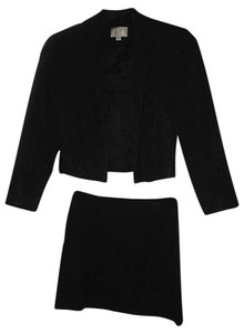 Alberto Makali Alberto Makali Black Skirt Suit SZ 4 Cropped Jacket Acetate Blend