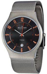 Skagen Denmark Skagen Men's Grey and Orange Accent Watch 233XLTTMO