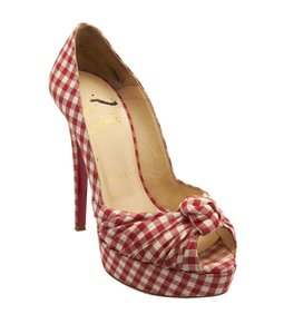 Christian Louboutin Red & White White,Red Pumps
