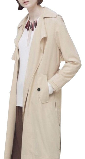 Preload https://item1.tradesy.com/images/mango-tan-trench-coat-size-00-xxs-19353815-0-1.jpg?width=400&height=650