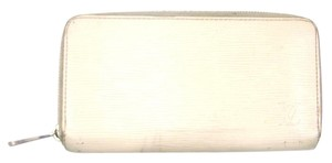 Louis Vuitton White Epi Coated Leather Zippy Zip Clutch Long Wallet