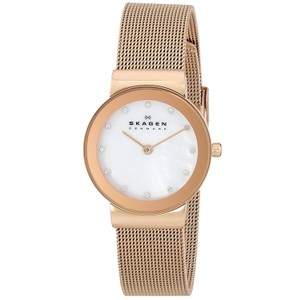 Skagen Denmark Skagen Women's 358SRRD Freja Rose Gold-Tone Stainless Steel Watch