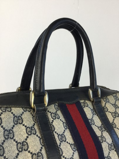 Gucci Satchel in Navy and White