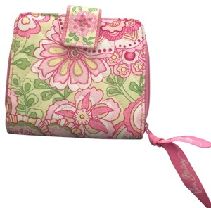 Vera Bradley Wristlet in Pink And Green