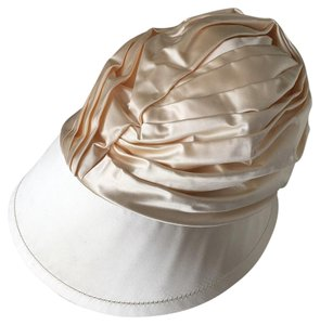 Prada Ruched Silk Runway Hat Cap