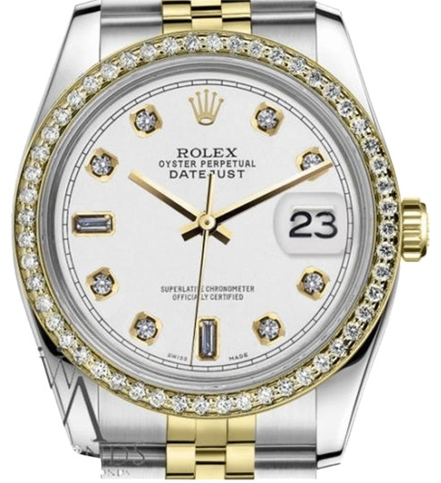 Preload https://item3.tradesy.com/images/rolex-men-s-36mm-datejust-2-tone-white-color-dial-82-diamond-accent-rrt-watch-19354042-0-1.jpg?width=440&height=440