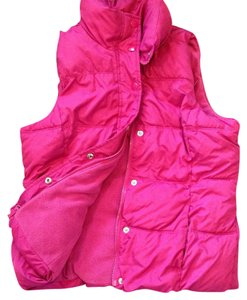 Ladies Pink Bubble Vest Vest