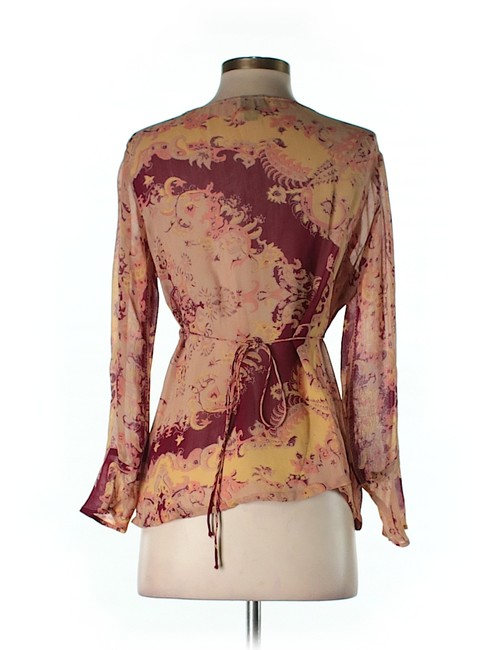 Plenty by Tracy Reese Floral Longsleeve V-neck Top
