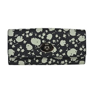 Coach Coach Chalk Prairie Calico Floral Pop Slim Envelope Wallet