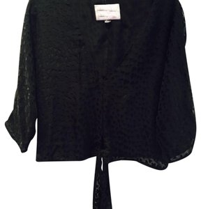 Rory Beca Heart Detailing Tie Big Sleeves Top Black