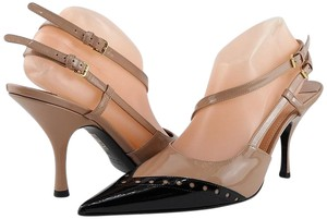 Miu Miu Designer Pointed Toe Slingback Eur 40 Black/ Nude Pumps