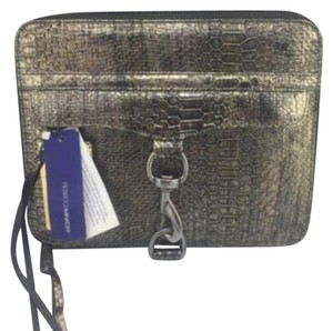 Rebecca Minkoff Bronze Python Embossed Leather Ipad Case Gold $195