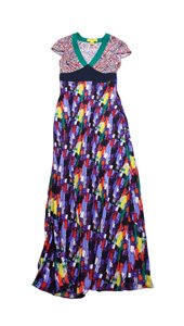 Maxi Dress by Catherine Malandrino Bright Multi Print Maxi