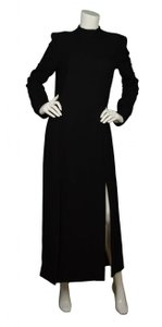 Wes Gordon Long Slit Longsleeve Dress