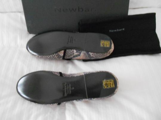NewbarK Snake Pattern Comfortable Versatile Color Made In Usa Grey/Brown/Taupe Flats