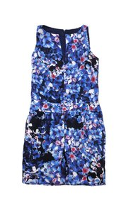 J.Crew short dress Blue Floral Silk Sleeveless on Tradesy
