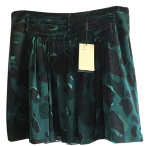 Burberry Mini Skirt Black and green