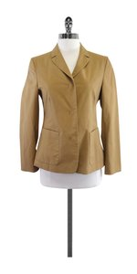 Burberry Tan Cotton Blend Jacket
