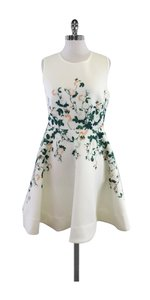 Erin Fetherston short dress White Floral Neoprere Sleeveless on Tradesy