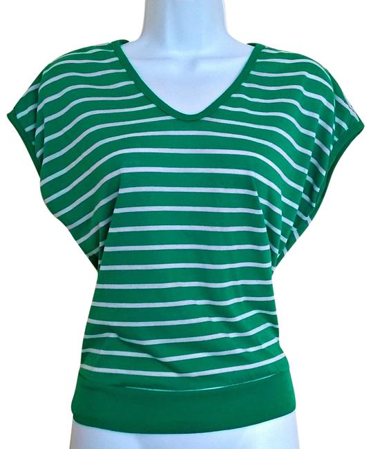 Preload https://img-static.tradesy.com/item/19354549/green-vintage-70s-v-neck-striped-tee-shirt-size-8-m-0-6-650-650.jpg