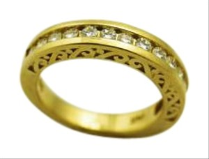 Bullion & Diamond Co. Diamond 14k Yellow Gold Wedding Band