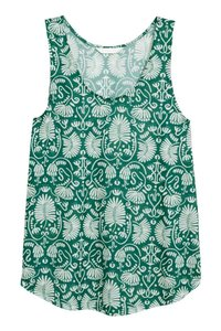 H&M Patterned Top green