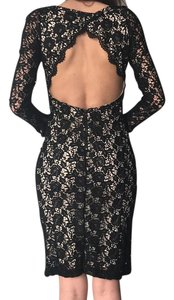 Alice + Olivia Lace Open Embroidered Bodycon Classic Dress