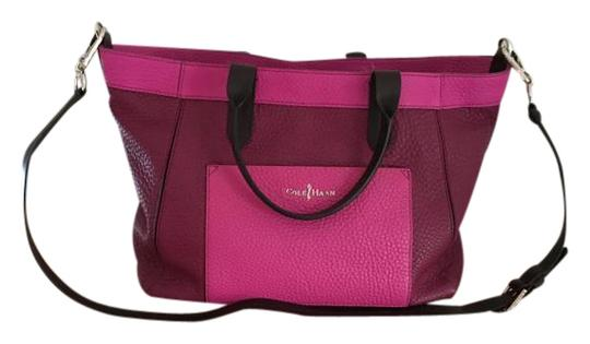 Preload https://img-static.tradesy.com/item/19354778/cole-haan-fuchsia-pebbled-grain-leather-tote-0-1-540-540.jpg