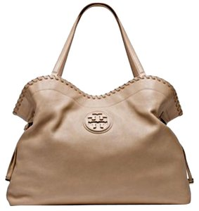 Tory Burch Marion Slouchy Tote in Clay Beige