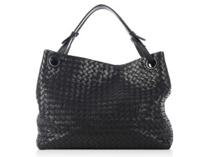 Bottega Veneta Black Bella Woven Leather Bv.k0801.04 Tote