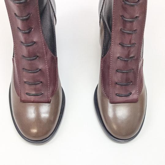 Laurence Dacade Wine/Black/Brown Boots