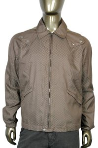 Gucci Diamante Blouse Hooded Brown Jacket
