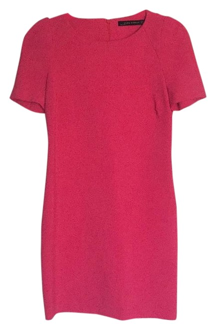 Preload https://img-static.tradesy.com/item/19354934/zara-hot-pink-above-knee-workoffice-dress-size-2-xs-0-1-650-650.jpg