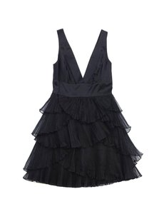 BCBGMAXAZRIA short dress Black Oraganza Tiered Sleeveless on Tradesy