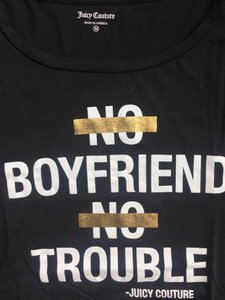 Juicy Couture Gold Boyfriend Comfortable T Shirt Black