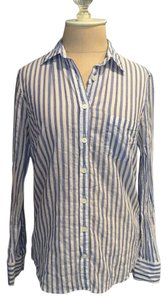 J.Crew Suiting Button Down Shirt Blue Striped