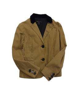 Marc Jacobs Mustard Yellow Grey Striped Cotton Jacket