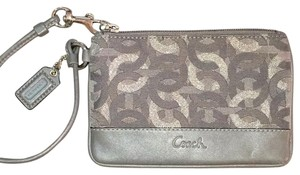 Coach Wristlet in Grey/silver