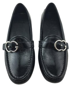 Gucci Loafers Silver Black Flats