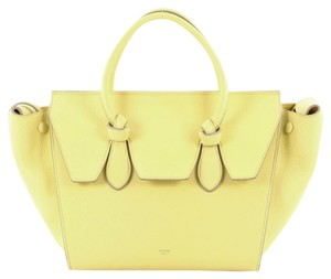 Céline Celine Leather Tote in Neon Yellow