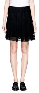 Sandro Mini Maje Mesh Mini Skirt Black