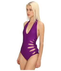 Jean-Paul Gaultier Jean Paul Gaultier Halter Cut Out Rosette Swimsuit 40 (US 4 )