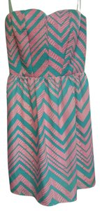 Pink Owl short dress Green and Pink on Tradesy