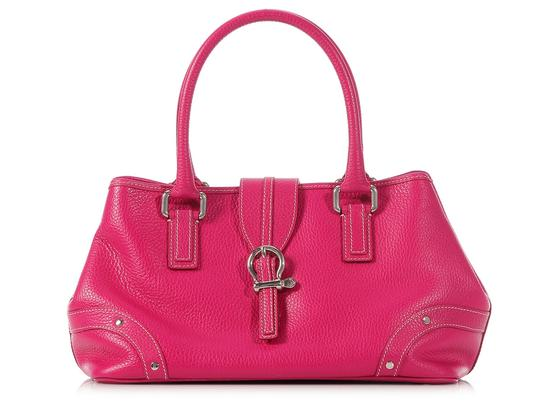 Burberry Pink Shocking Pebbled Leather Bb.k0512.11 Satchel