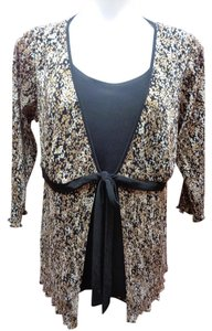 Studio 1940 Textured New With Tags Top Black/Brown